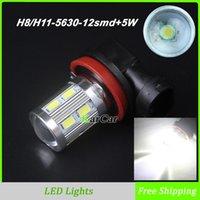 al por mayor jefe de luz automático h11-750LM H11 LED Head Lamp Niebla Bombillas 12SMD 5630 + 5W Chip, LED 12V Auto Car diurna luz de conducción H8 DRL luces 6000K Blanco