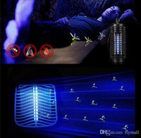 battery insect killer - 110V V Electric Mosquito Bug Zapper Killer LED Lantern Fly Catcher Flying Insect Patio Outdoor Camping Lamp Portable Lantern Night Light