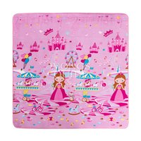 Wholesale Fancy Carpet Pink Beautiful Girl Cartoon Style Polyester Non Slip Floor for Children Climbing Playing Carpet for sale