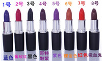 Wholesale Brand new Luster Lipstick Frost Lipstick Matte Lipstick Hallowmas COSPLAY vampire party Makeup Lipgloss cosmetics colors gift drop shipping
