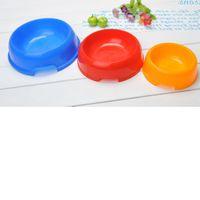 plastic bowl wholesale - Medium Size Plastic Pet Bowl Pet Supplies LCCXJ434 PP environmental protection plastic material Portable pet bottle very practical