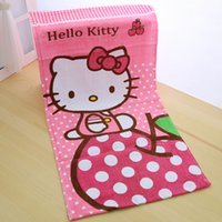 cotton beach towel - Hello Kitty Beach Towel cm Active Printing Bath Towel Cotton toalha de banho for bathroom serviette de plage