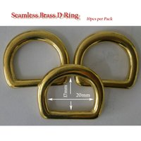 Wholesale 10pcs pack seamless solid brass D RING quot natural brass buckle for leather craft cosmetic purse doggie bag handbag horse rug harness