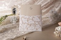 amazing fold - 2015 Amazing Hot Lace Floral Free Personalized And Customized Printing Wedding Invitations Cards Custom in White