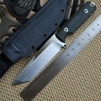fixed blade knife - Bolte Conquer D2 Tanto blade G10 handle fixed blade hunting straight knife KYDEX Sheath camping survival outdoor EDC knives tool