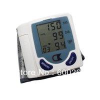 Wholesale Digital Wrist Blood Pressure Monitor Heart Beat Meter Sphygmomanometer with LCD Display order lt no tracking
