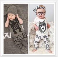 little girls clothing - Toddler Baby Summer Clothes Sets Outfits Kids Boys Girls Cartoon Bear Little Monster T shirt Tops Pants Baby Clothing Fashion Suit