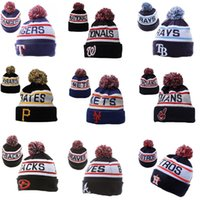 american league hat - 2015 New north American baseball league wool hats foreign trade jacquard thermal knitted hats women and men winter hats