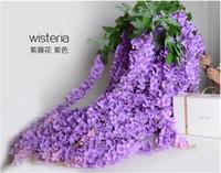 1,6 metro de comprimento Elegant Silk Artificial Flower Wisteria Vine Rattan para o casamento Decorações do partido Bouquet Garland ornamento Home For DHL livre
