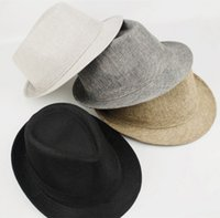 Wholesale 2015 Fashion Womens Mens Unisex Colors Fedora Hat Trilby Gangster Cap Summer Beach Sun Straw Panama Hat WF269