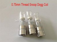 Cheap HOT!!! 0.75mm Snoop dogg atomizers Rebuildable coil Heating Chamber with glass tube Dry Herb Wax herbal vaporizers pen Replacement coils