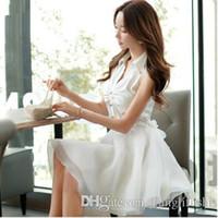 Wholesale Sweet Temperament Elegant New Spring And Summer Women s Dress White Fairy Dress Big Skirt S M L XL