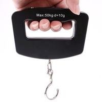 Escala colgante del gancho del peso del equipaje portátil escala digital del equipaje, 50Kg / 10g LCD digital electrónica con la caja de color