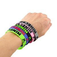 Other silicone bracelet - Minecraft Wristband Bracelet Silicone Hot Online Game Computer Game Game Theme Bracelets