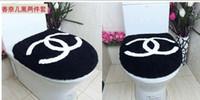 Wholesale New Home Bathrooms Bathroom Products Two Set U Type O Type Universal Plus Velvet Toilet Seat Cover Fashion cc black white