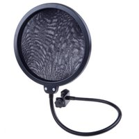 Wholesale high quality Black Studio Clamp On Microphone Pop Filter Gooseneck Mic Wind Screen Mask Shied