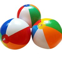 Wholesale beach ball six color beach ball PVC inflatable toys air filled ball cm color children s toys