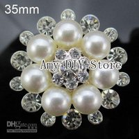 Wholesale xayakids mm Fashion Crystal Rhinestone Buttons with Crystal and Pearl Crystal Beads Jewelry GZ004