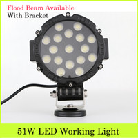 Wholesale 2pcs Inch W Off Road ATV Cree LED Working Light Bar With Flood Beam Ultra Bright Working Lamps With Bracket Boat Truck SUV Jeep Boat