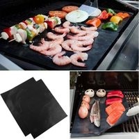 bbq foil - 40X33CM Non Stick PTFE BBQ Liners Oven Liner Grill Foil Barbecue Liner Reusable Teflon Cooking Sheet LA871836