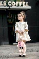 mid dress - Size Summer Spring Children High Quality Dress Girl Mid Sleeve Dress Same as pictures Girls Dresses Children Clothing