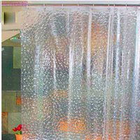 Wholesale New cm cm Waterproof Home D Water Cube Thicker EVA Bathing Shower Curtain