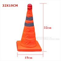 barricade lights - cm Reflective Oxford Fabric PP Folding Road Cone Barricades Traffic Cone Road Warning Signs Without Top Light
