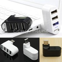 usb extension port hub - New Arrival Rotatable High Speed Mini Port USB Hub Hub Rotate External Extension Splitter Adapter for PC Laptop Notebook