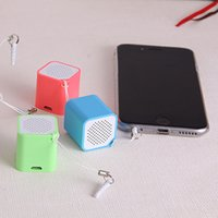Wholesale Smart box Mini Bluetooth speakers Mobile phone strap hanging colorful bluetooth smart speaker for iphone Samsung Galaxy note