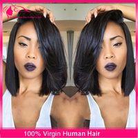 malaysian lace wigs - Hot Selling Brazilian A Bob Cut Wigs Human Hair Bob Full Lace Wig For Black Women Full Culticle Short Bob Full Lace Wig