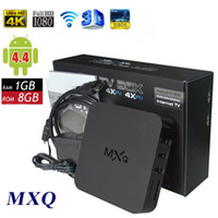 Wholesale TopSale XBMC Kodi installed Original MXQ TV BOX Amlogic S805 Quad Core Android Kitkat K GB GB WIFI Airplay Miracast D
