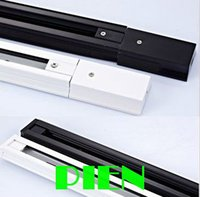 Wholesale 2 wires track for led lght Aluminums track white black Accessories for led track lamp by DHL