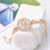 Ordre minimum est $ 9 Été nouvelle arrivée de la mode or plaqué rhinestone bagues avancées inlaying bijoux en cristal