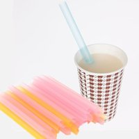 Wholesale 33 Giant Jumbo Drinking Straws Bubble Pearls Tea Party Event Supplies Drink Smoothie Slush Hot