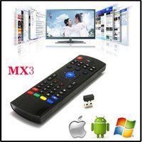 Wholesale HOT MX3 GHz Wireless Keyboard Air Mouse Remote Controller Somatosensory IR Learning Axis without Mic for Android TV Box Smart IPTV