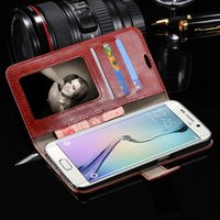 Wholesale Leather Shell Pouches - Samsung Galaxy S6 & S6 Edge S4 S5 Note 3 4 5 Iphone 5S 6S 6S Plus New Hot fashion flip leather case wallet stand phone shell housing cover