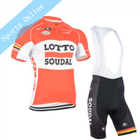 Wholesale Men cycling Jersey sets team lotto cycling clothing maillot ciclismo Short Sleeves Ropa ciclismo hombre MTB bike jersey BIB Shorts