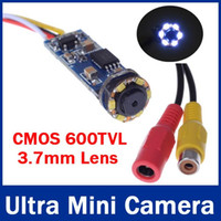 Wholesale CMOS TVL Super Mini Wired Camera Cute Ultra Mini Camera CCTV Camera with LEDs Night Vision for G G wireless