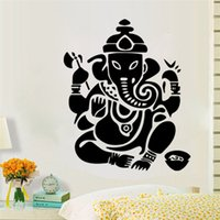Wholesale Art design Indian Namaste Words God Column Religion Wall Stickers Decal Vinyl Buddhist Mandala Home Decor Bedroom Flower Mural