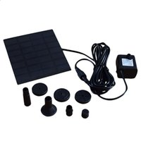 Wholesale Solar Power Fountain Pool Water Pump Garden Plants Sun plants watering outdoor Garden Decoration Drop Shipping