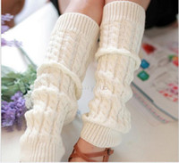 Wholesale Hot New Women girl Knitting Crochet long Leg Warmers fashion Gaiters Knee High warm Trim Boot cuffs ruffled Leggings Wamers colors