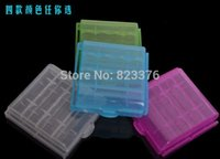 Wholesale Hard Plastic Case Holder Storage Box for rechargeable AA AAA Battery