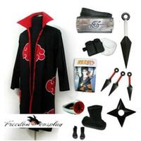 akatsuki robe - Naruto Akatsuki Cosplay Robe Dust Cloak Orochimaru Itachi Uchiha Madara Sasuke Pein Robe Costumes Trench Coat