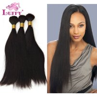 Wholesale LUFFY HAIR Top Quality Human Hair Bulk Raw Natural Straight Brazilian Human Hair Bulk Without Weft