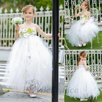 Wholesale White Girls Dresses Baby Girls Net Dress Clothes Wedding Dresses Design Kids Children Clothing baby Girls Party Dresses Tutu Skirt Ballgown