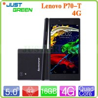 Wholesale Lenovo P70 T G LTE Mobile Phone inch X720P Android MTK6732 Quad Core GB Ram GB Rom MP MP Camera Dual SIM mAh