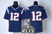wholesale sports jerseys - 2015 Super Bowl XLIX Football Jerseys with FREE Patches Quarterback Navy Blue Elite Jersey Highest Quality Brand Sports Jersey FAST SHIP