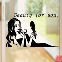 bedroom image - Art Image Design barber shop window decoration stickers Hair Care Beauty Care glass door wall stickers