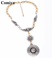 10k gold chain - 1 Vintage style necklaces for women boho accessories rhinestone pendant necklace K gold chain European fashion from india