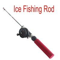 Wholesale New Arrival cm Ultra light Telescoping Carbon Ice Fishing Rod Mini Telescopic Pole Winter Fishing Tackle H12650